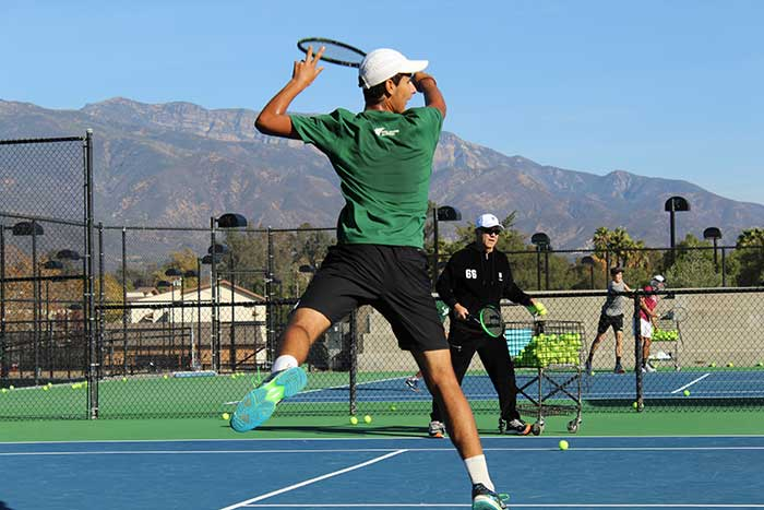 Highly ranked USTA junior boys train alongside and compete against top ITA and ITF tennis players from around the world at Weil Academy under the instruction of Wayne Bryan in Ojai CA USA